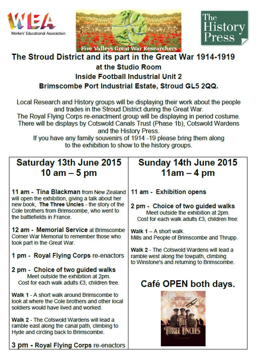 The Stroud District and its part in the Great War 1914-1919 13th and 14th June 2015
